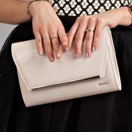 Béžové lakované luxusní dámské psaníčko W52 ROVICKY