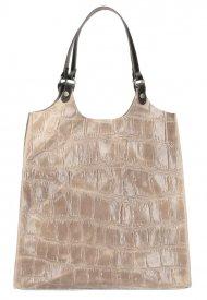 Kožená velká dámská kabelka Ginevra přírodní hnědá