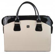 PUNCE LC-01 černo-béžová dámská kabelka pro notebook do 15.6 palce