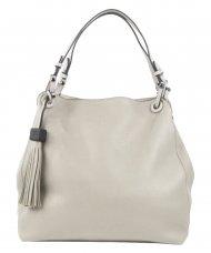 Krémová moderní kabelka přes rameno 3990-BB