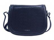 Tmavě modrá oblá crossbody dámská kabelka v hadím designu NEW BERRY