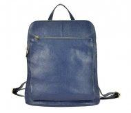 Kožený dámský módní batůžek s čelní kapsou Patrizia Piu tmavě modrý