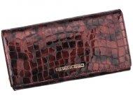Gregorio Kožená višňová dámská peněženka dárkové krabičce