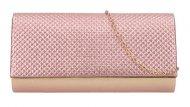 Růžovo-zlaté dámské psaníčko na řetízku HL3159