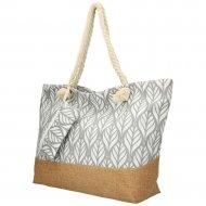 Velká šedá plážová taška přes rameno B6803