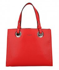 DAVID JONES Červená dámská kabelka do ruky CM5784