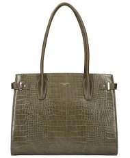 DAVID JONES Olivově zelená dámská kabelka v krokodýlím designu CM5846