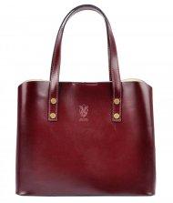 Kožená bordová dámská kabelka do ruky Florencie