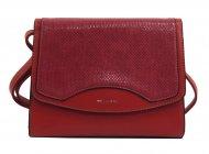 Tmavší červená crossbody dámská kabelka v hadím designu NEW BERRY