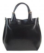 Velká černá dámská shopper kabelka 3435-MM