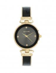 Skyline Náramkové dámské hodinky černo-zlaté 9550-3