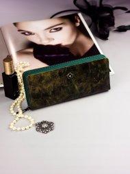 Cavaldi zelená dámská peněženka kůže/PU v dárkové krabičce