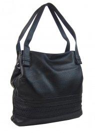 Černá praktická dámská kabelka přes rameno 5407-BB