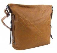 Okrová hnědá crossbody dámská kabelka XH5012