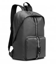 KONO Šedý lehký skládací cestovní nepromokavý batoh s reflexním páskem