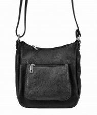 Kožená crossbody dámská kabelka Patrizia Piu černá