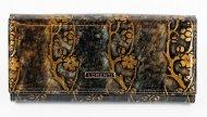 Lorenti zlatá dámská kožená peněženka s květy v dárkové krabičce