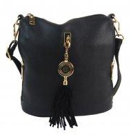 Crossbody dámská kabelka s bočními kapsami 2494-BB černá
