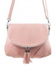 Růžová crossbody dámská kabelka s magnetem 5458-BB