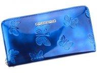 Gregorio luxusní modrá dámská kožená peněženka v dárkové krabičce