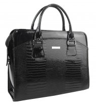 Dámská luxusní taška na notebook černý lak nové kroko ST01 15.6
