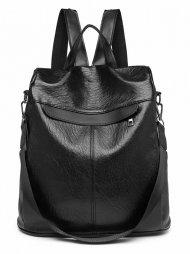 Černý dámský bezpečný batoh Miss Lulu