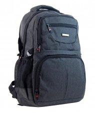 New Berry Elegantní polstrovaný školní batoh L18105 tmavě šedý