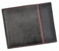 Kožená šedá pánská peněženka RFID v krabičce WILD