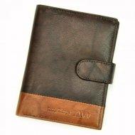 Kožená hnědá pánská peněženka RFID WILD