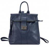 Kožený dámský módní batůžek Patrizia Piu námořnická modrá