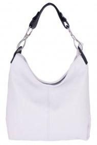 Kožená dámská kabelka Shaila bílá