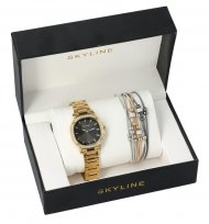 SKYLINE dámská dárková sada zlaté hodinky s náramkem 2950-34