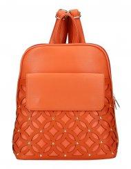 Oranžový dámský módní batůžek v perforovaném designu AM0109