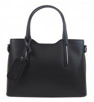 Kožená černá dámská kabelka do ruky Maila