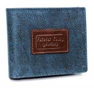 Kožená modrá pánská peněženka v krabičce RFID Forever Young