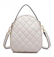 Béžová crossbody dámská kabelka s ouškem Miss Lulu