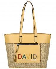 DAVID JONES Žlutá velká dámská kabelka přes rameno CM5741