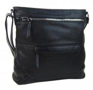 Černá crossbody dámská kabelka střední velikosti T5069