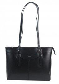 Kožená dámská kabelka přes rameno černá