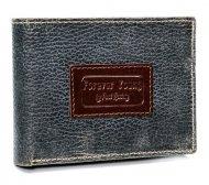 Kožená šedá pánská peněženka v krabičce RFID Forever Young