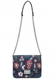 Crossbody dámská kabelka na řetízku v květovaném motivu XS7033 modrá