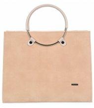 Lososová moderní elegantní dámská kabelka S730 GROSSO