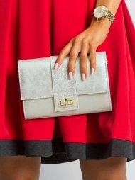 Stříbrné dámské psaníčko / kabelka se zlatým nádechem W66 ROVICKY