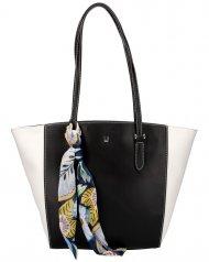 David Jones černá dámská kabelka přes rameno se šátkem CM5003