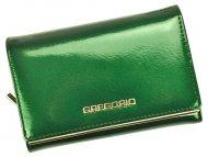 Gregorio zelená lakovaná dámská kožená peněženka v dárkové krabičce