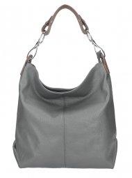 Kožená dámská kabelka Shaila kouřová šedá