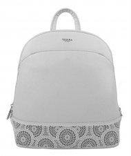 Světle šedý elegantní dámský batoh / kabelka 5234-TS