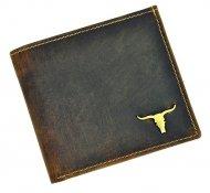 Hnědá pánská kožená peněženka v krabičce WILD