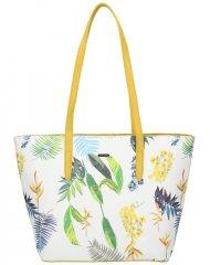 DAVID JONES Žlutá dámská kabelka přes rameno v květovaném designu 6306-4