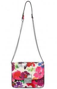 Crossbody dámská kabelka na řetízku v květovaném motivu XS7033 béžová
